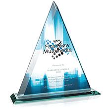 Delta Jade Glass Award, Full Color Imprint, 11-1/2""