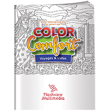 Color Comfort US Landmarks Theme Adult Coloring Book