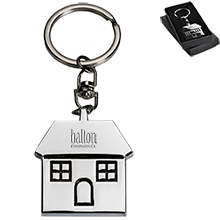 House Metal Keychain