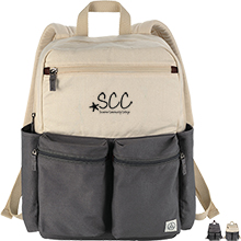 """Alternative® Victory Cotton Canvas 15"""" Computer Backpack"""
