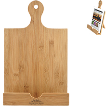 Bamboo Cookbook and Tablet Stand