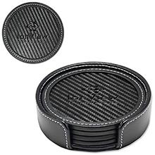 Carbon Fiber 4-Piece Coaster Set