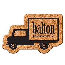 Box Truck Shaped Cork Coaster