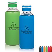 Krave Glass Water Bottle, 18oz. - Free Set Up Charges!