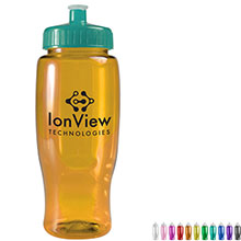Transparent Grip Poly-Pure Sport Bottle, 27oz. - Push Pull Lid