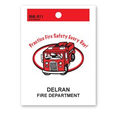 Custom Litterbag, Practice Fire Safety Every Day!