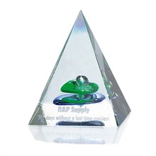 Pyramid of Success Art Glass Award, 3-1/2""
