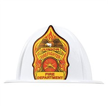 Classic Junior Firefighter Hat White, Stock - Closeout, On Sale!