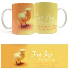 Baby Chick Design, Full Color Stoneware Mug, 11oz.
