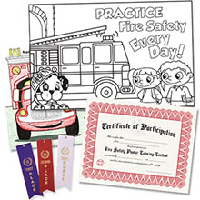 Fire Safety Coloring Contest Kit, Stock