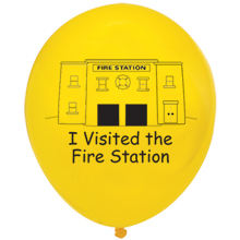 I Visited The Fire Station Balloon, Stock - Closeout, On Sale!