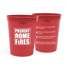 Prevent Home Fires Stadium Cup, Stock, 16oz. - Closeout, On Sale!