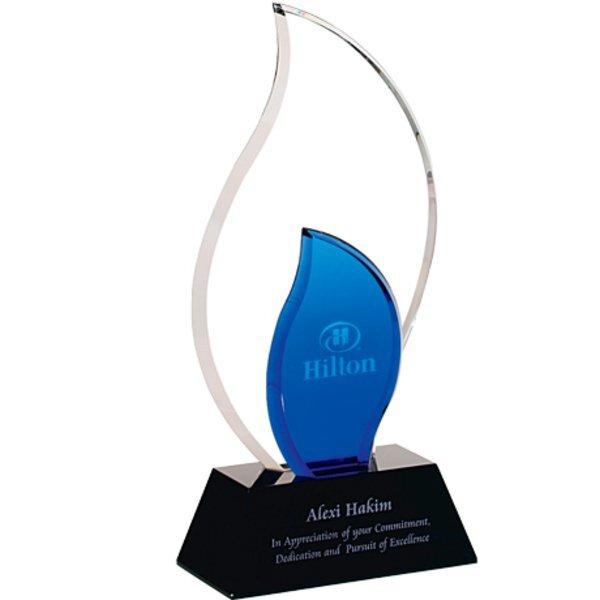 """Trailblazer Crystal Award with Glass Base, 10-1/2"""""""