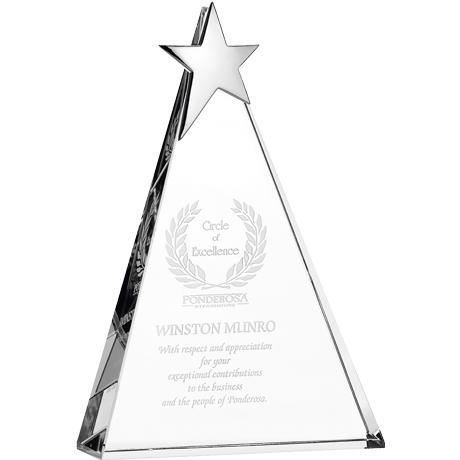 "Zenith Star Crystal Award, Large, 10"""