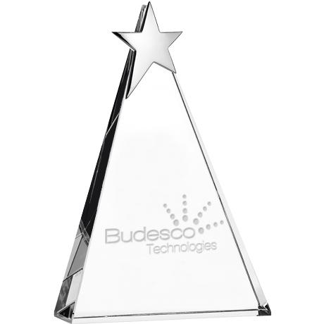 "Zenith Star Crystal Award, Medium, 7-3/4"""