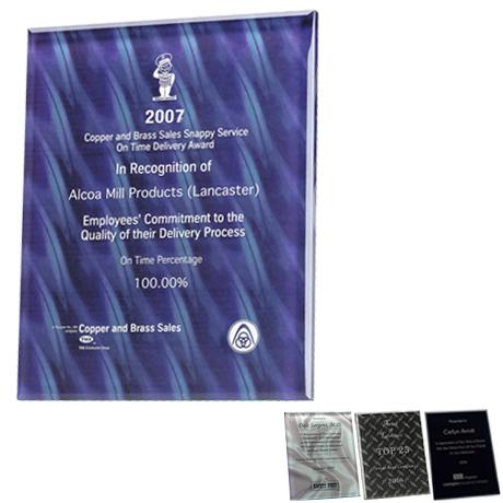"Trillinnium Glass Award Plaque, 8"" x 10"""