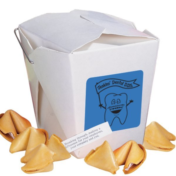 Take Out Fortune Cookie Container, 6 Cookies