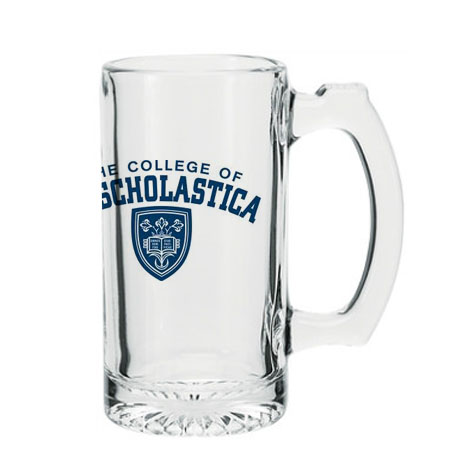 Thumbprint Glass Beverage Mug, 12-1/2 oz.