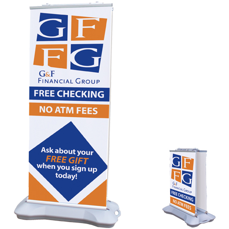 Outdoor Retractor™ Double Banner Display Kit