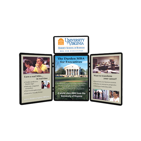 Show 'N' Fold™ Tabletop Display with Graphic Header & Panels Kit