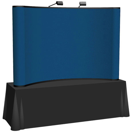 Arise™ Curve Pop-Up Tabletop Display Fabric Kit, 8'