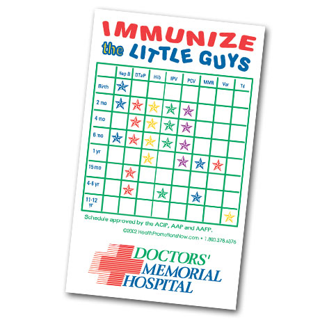 Healthy Message Magnet™, Immunize the Little Guys