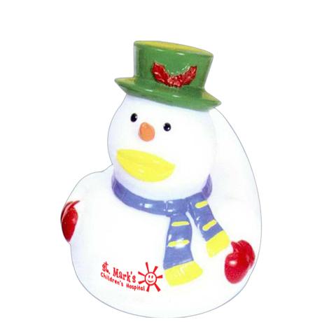 Snowman Rubber Ducky