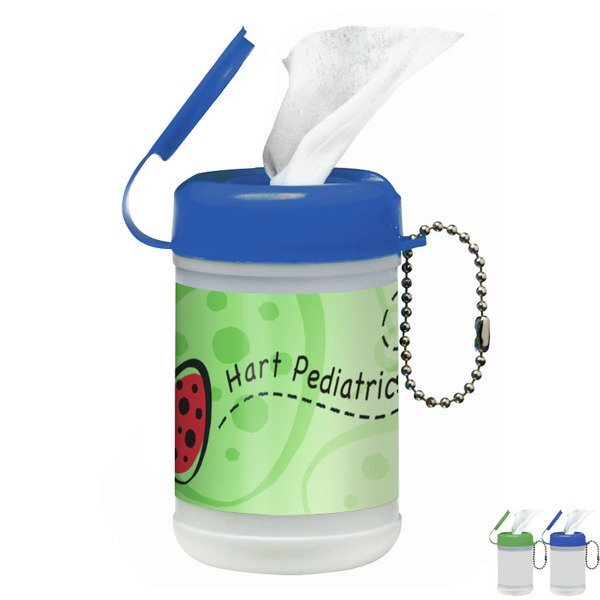 Mini Antibacterial Wipes Canister