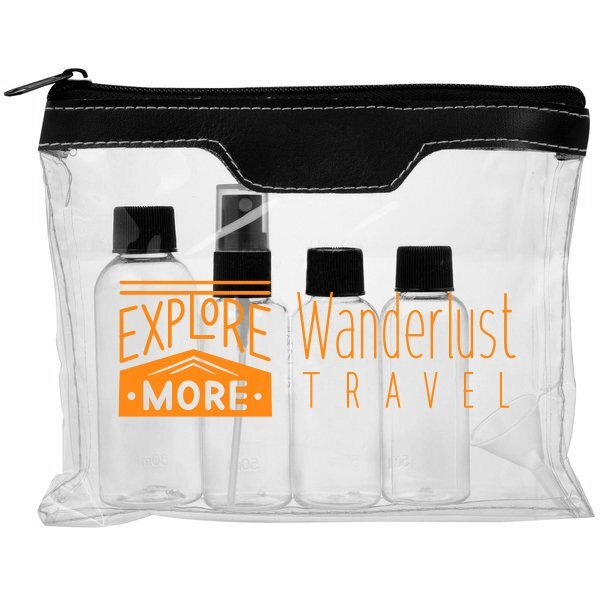 Toiletry Air Safe Bag with Bottles