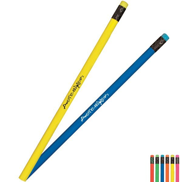Fluorescent Neon Pencil with Matching Eraser