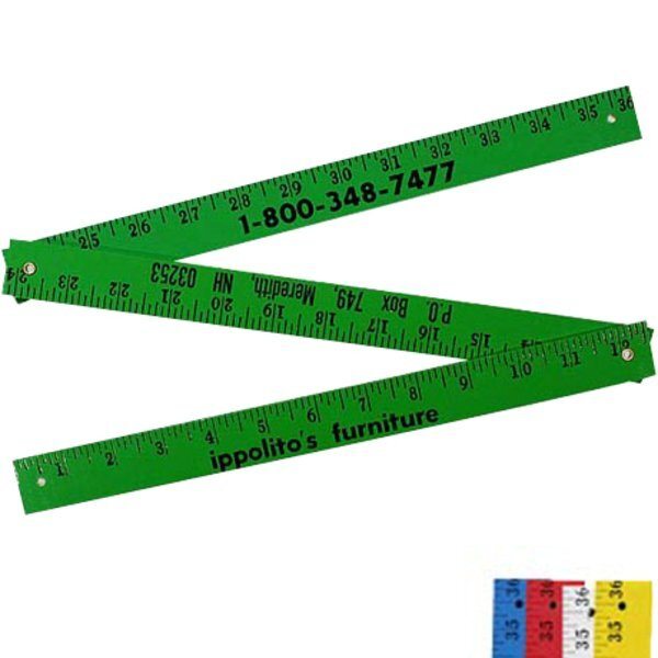 Enamel Finish Folding Yardstick