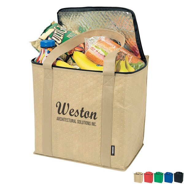 Zippered Insulated Non-Woven Grocery Tote