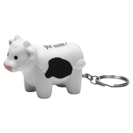 Milk Cow Stress Reliever Key Chain