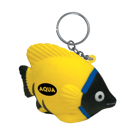 Tropical Fish Stress Reliever Key Chain