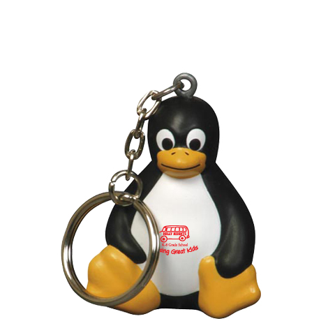 Sitting Penguin Stress Reliever Key Chain