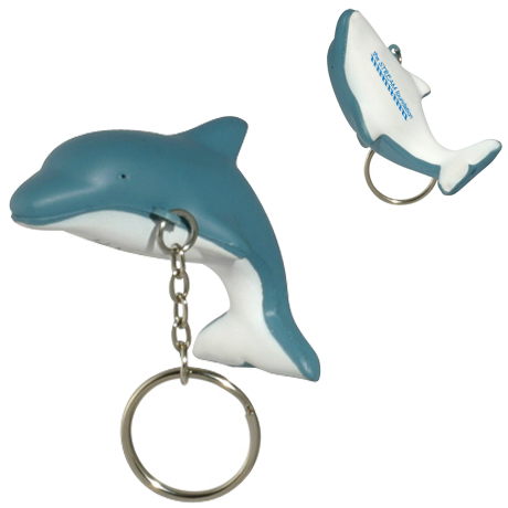 Dolphin Stress Reliever Key Chain