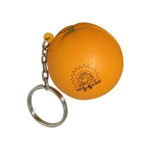 Orange Stress Reliever Key Chain