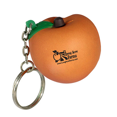 Peach Stress Reliever Key Chain