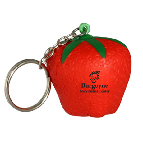 Strawberry Stress Reliever Key Chain