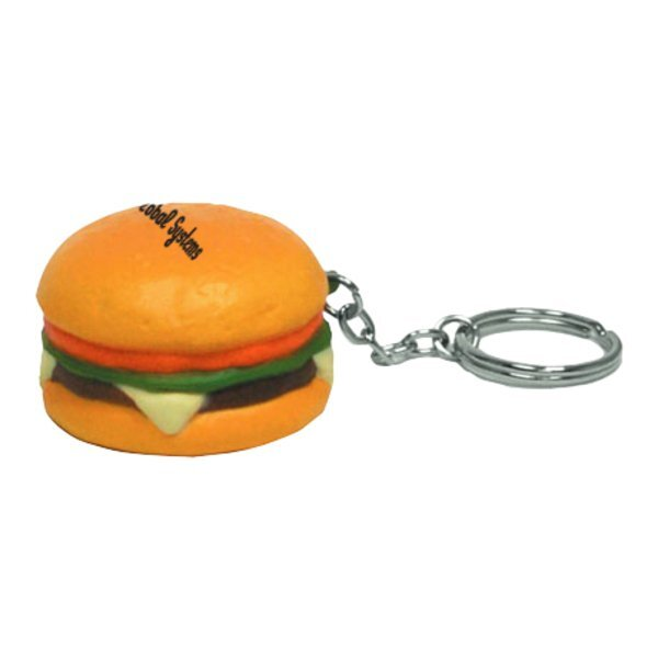 Hamburger Stress Reliever Key Chain