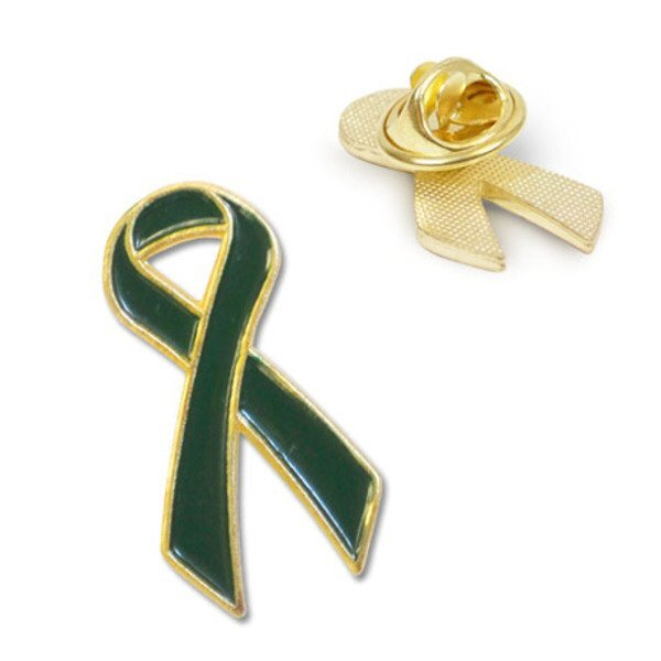 Green Ribbon Lapel Pin