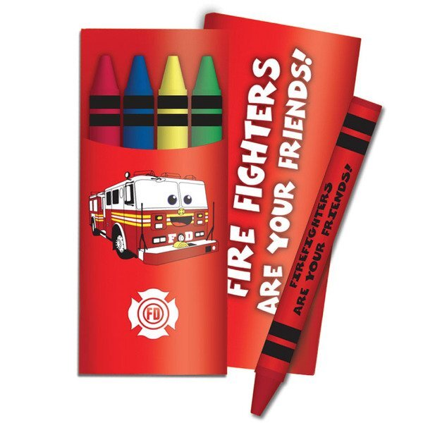Four Pack Crayons, Fire Fighters Are Your Friends Stock