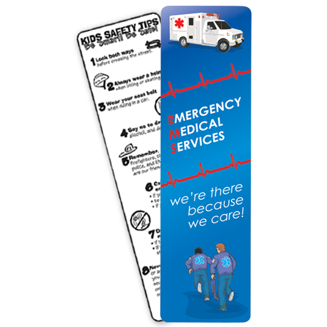 Emergency Medical Services Bookmark, Stock