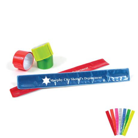 Reflective Safety Bracelet Snap Wristband - Discontinued