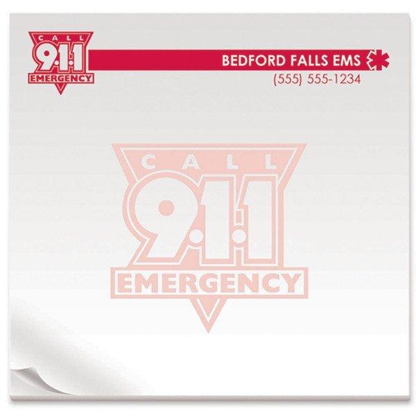 """BIC® Adhesive 25 Sheet Notepad, Call 911, 3"""" x 3"""""""