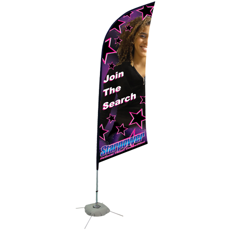 Razor™ Sail Sign Banner Kit - Single Sided, Scissor Base