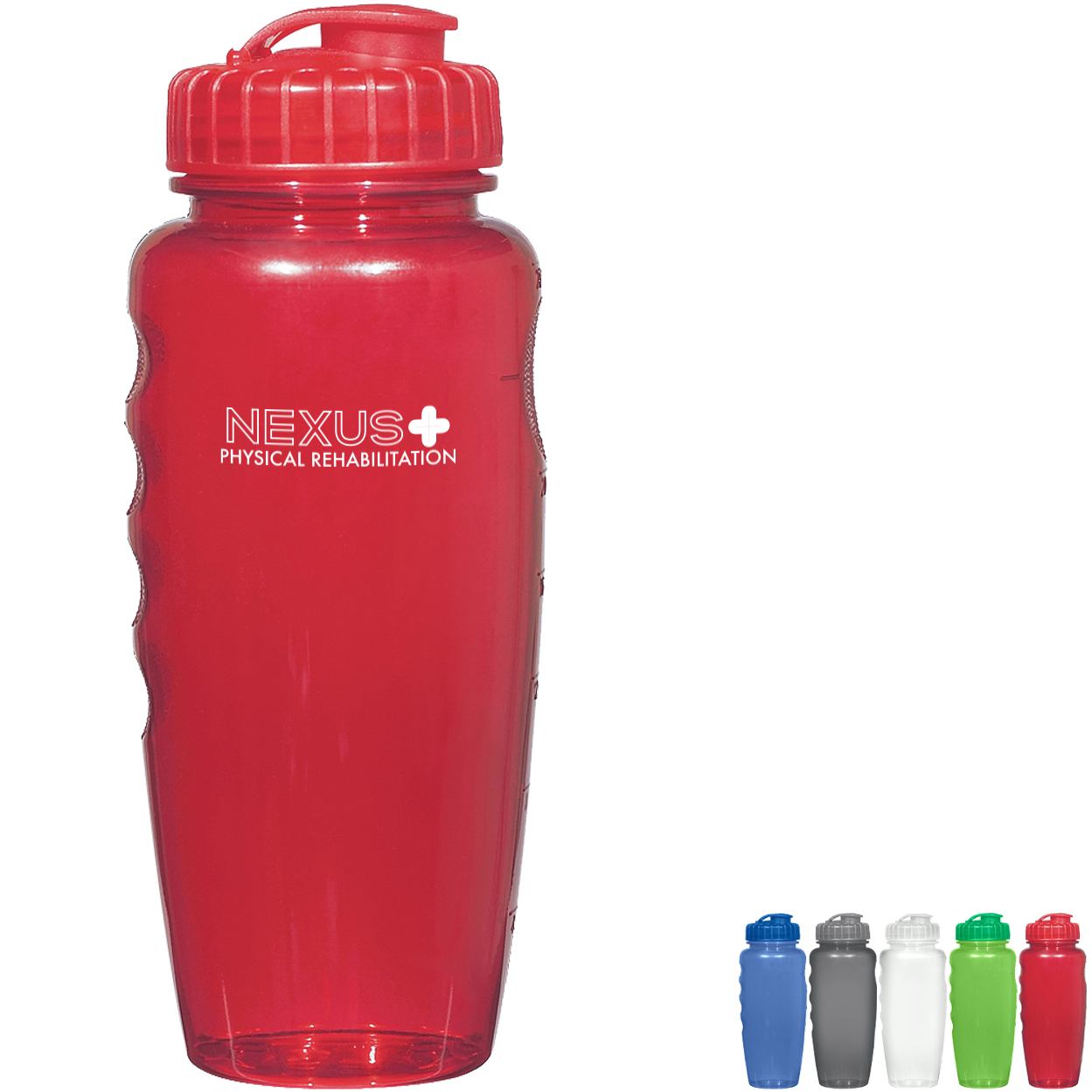 Quencher Grip Bottle w/ Measurement Scale, 30oz., BPA Free