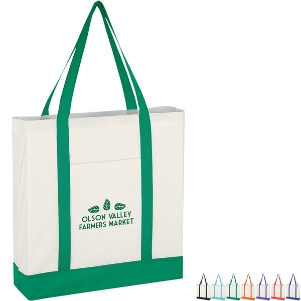 Colored Trim Non-Woven Tote