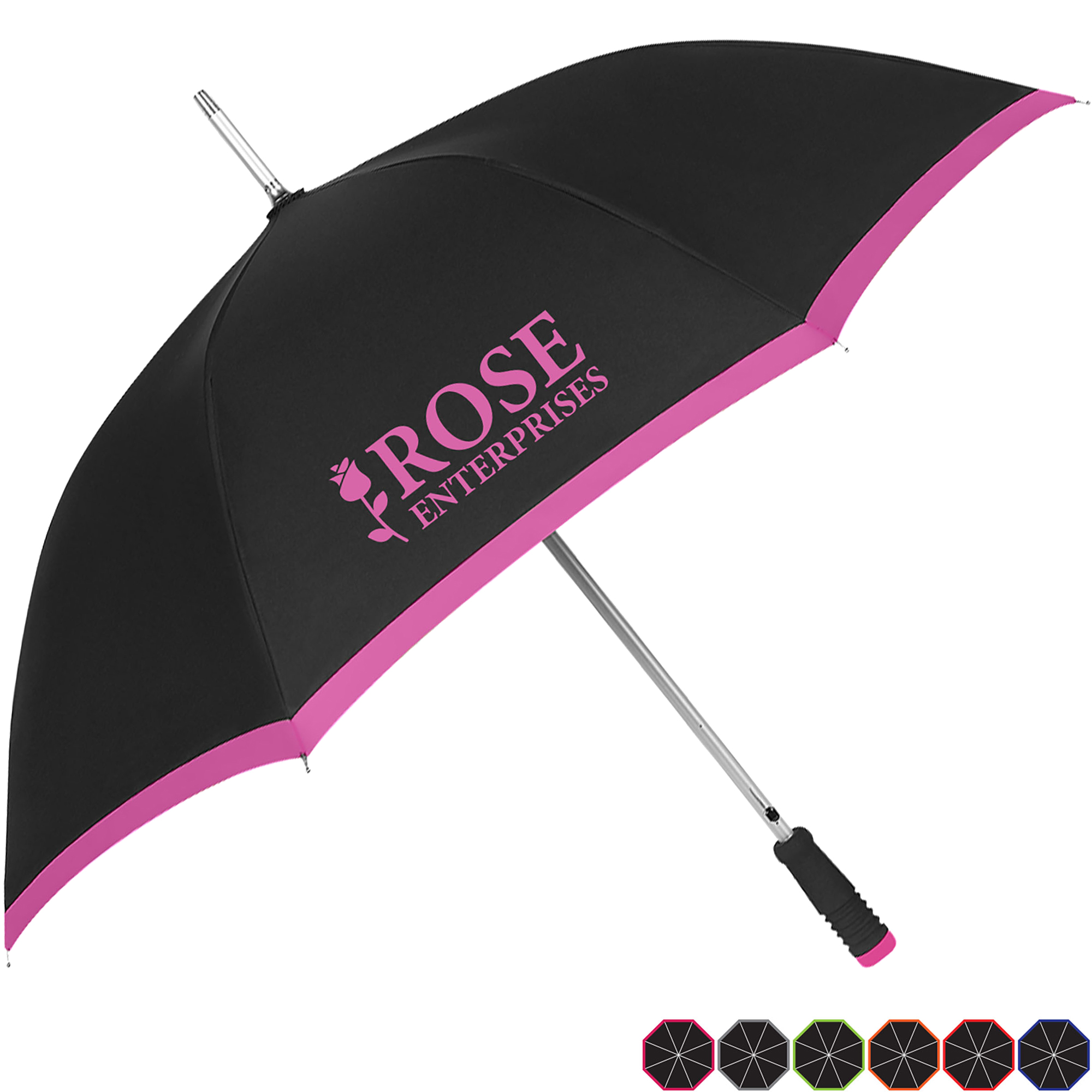 "Borderline Automatic Umbrella, 46"" Arc"