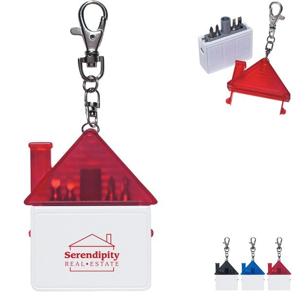 House Shape Tool Kit Keychain